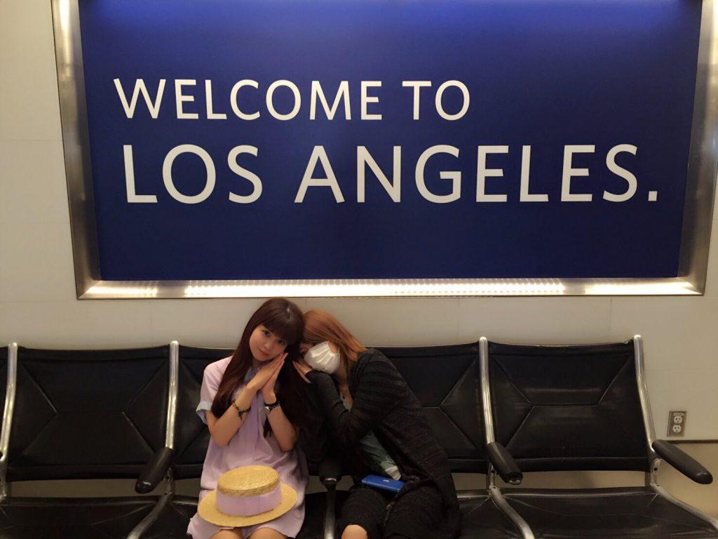 2016/6/29 (米) ロサンゼルス到着 エイルさんは眠れなかったのかな。るなるは元気そうです。