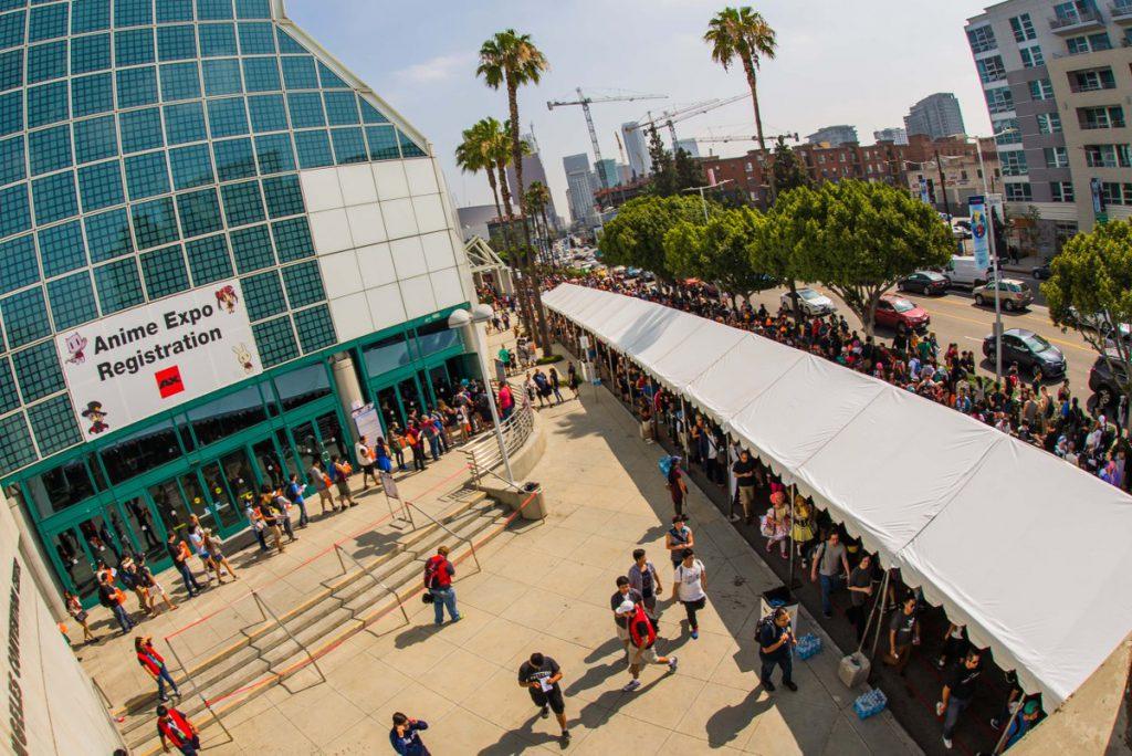 Anime Expo初日の入り口