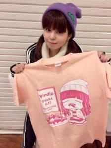 2016/11/22 0;00 のツイート「ご当地限定Tシャツ大阪バージョン!たこやき〜!」